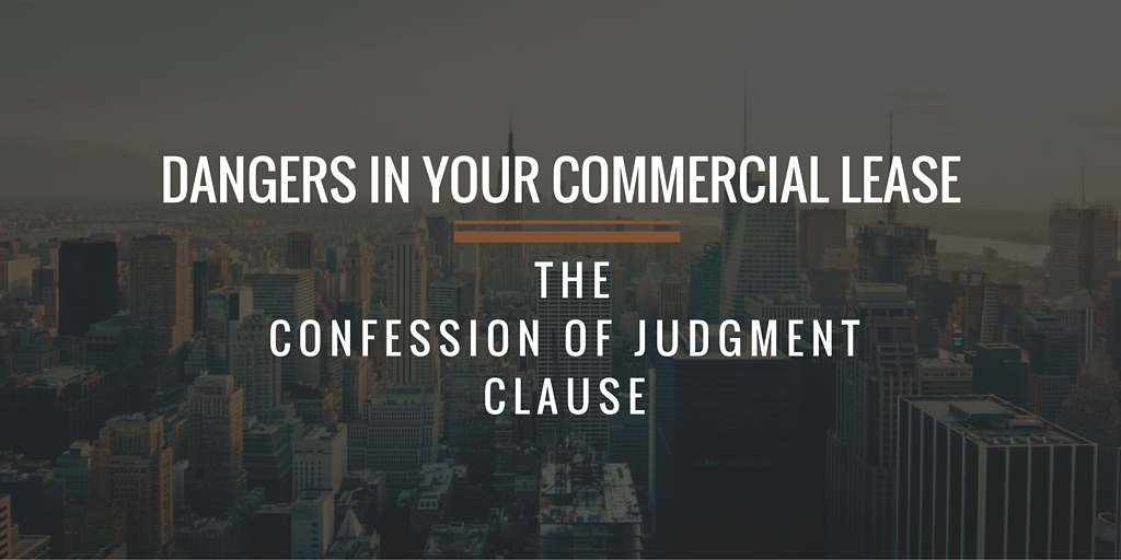 Confession of Judgment